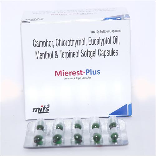 Camphor, Chlorothymol, Eucalyptol Oil , Menthol & Terpineol