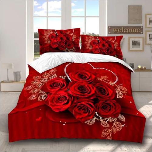 Rose Print Comforter Set