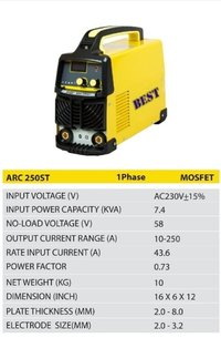 Best Arc Welding Machine 250 Amp