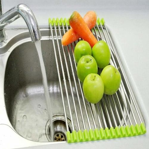 Multipurpose SS Folding Drain Rack