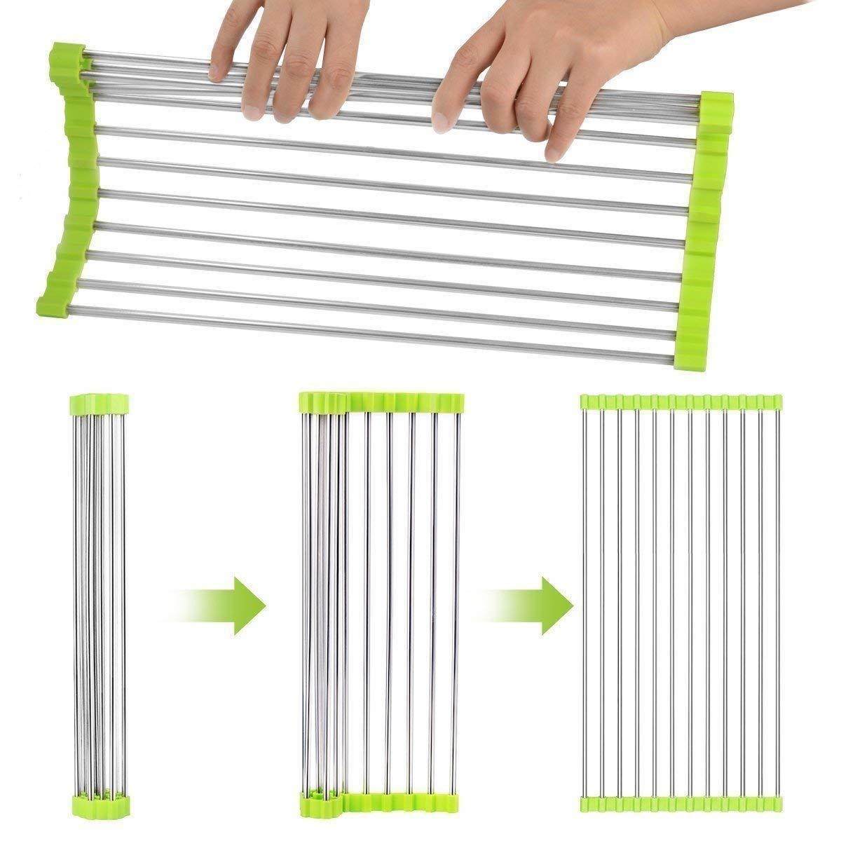 Multipurpose SS Folding Drain Rack