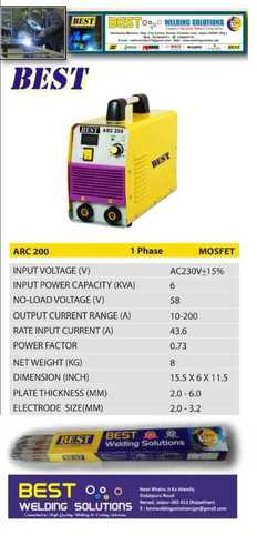 Best Arc Welding Machine 200 Amp.