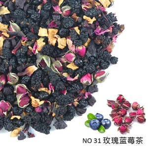 Wholesales Rose And Blueberry Tea Blended Tea Dried Flower And Herbal Tea