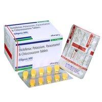 Chlorzoxazone Diclofenac Paracetamol Tablets