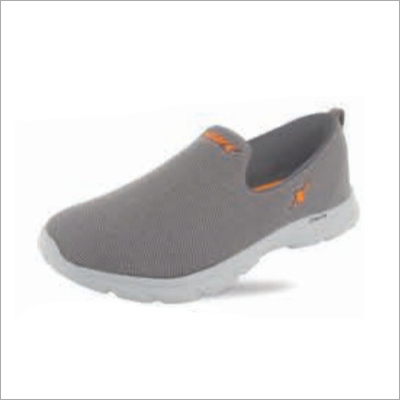 Grey N Orange Shoes