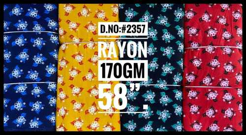 Rayon flower Printed Fabric