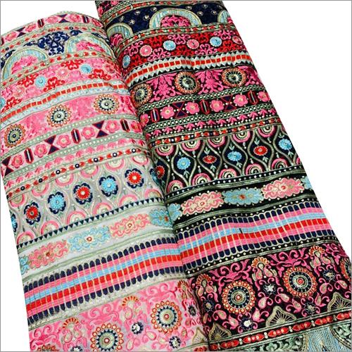 Ladies Multi Colour Desinger Lehenga Fabric