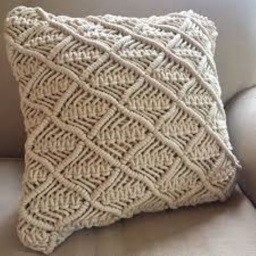 Macrame Cotton Rope Cushion Cover