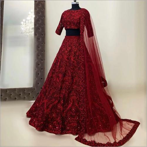 Ladies Fancy Red Lehenga