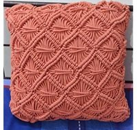 Macrame Cotton Rope Dyed Cushion Cover