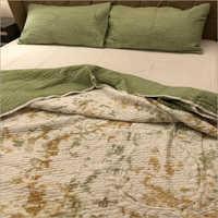 Pistachio Tie Dye Quilted Bedding Set