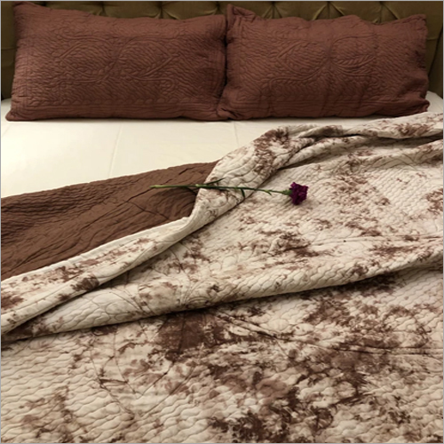 Mauve Tie Dye Quilted Bedding Set