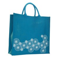 PP Laminated Jute Shopping Bag With Padded Rope Handle