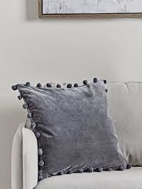 Velvet Pom-Pom Cushion Cover