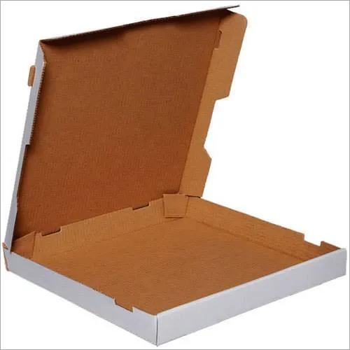 White Corrugated Pizza Box