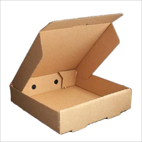 Brown Corrugated Pizza Box
