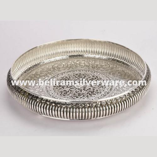 Fluted Traditional Nakshi Silver Uruli