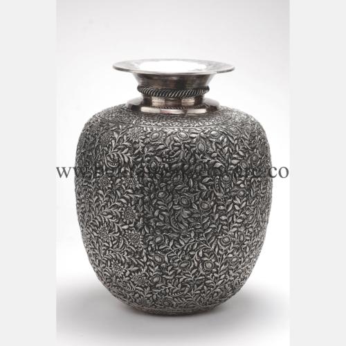 Intricately Designed Silver Vase