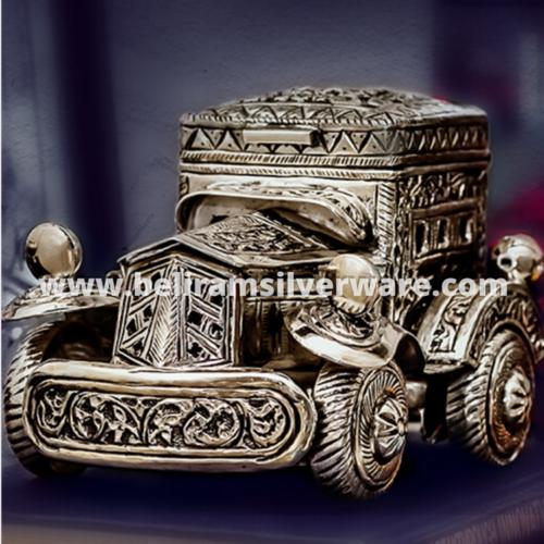 Vintage Car Silver Centerpiece