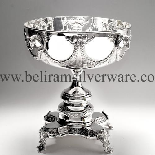 Pedestal Horses Silver Centerpiece
