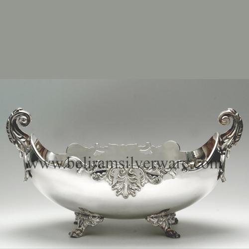 Antique Silver Bowl Centerpiece
