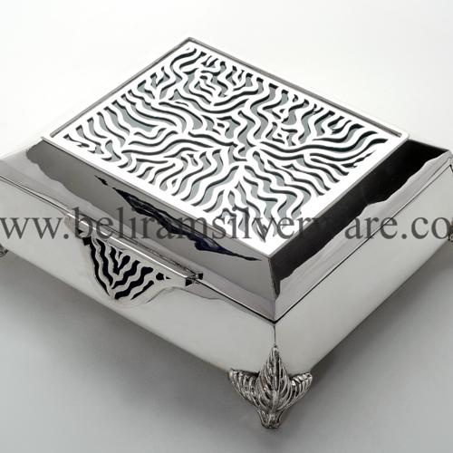 Modern Square Silver Box