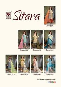 SITARA Schiffli Top with Digital Print with Stylish Flex Pant Kurtis