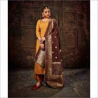 Ladies Modern Silk Suit
