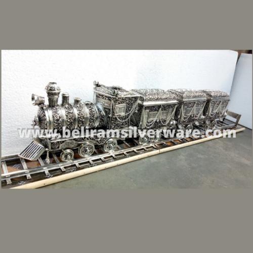 Antique Train Silver Centerpiece With Box