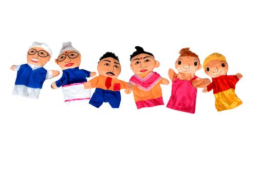 Kidken Hand puppet - family - set of 6