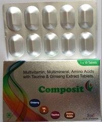 Antioxidant, Multivitamin and Multimineral Tablets