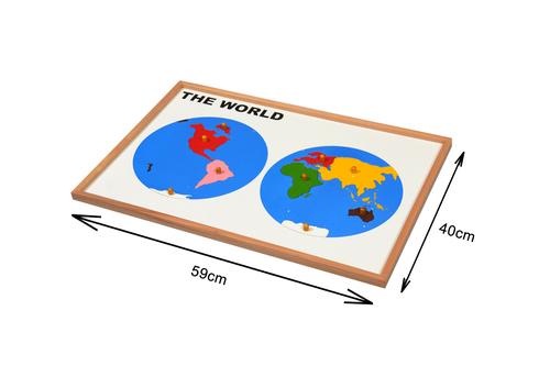 Kidken Montessori Map Puzzle World wooden toys,toys wooden educational toys