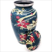 Blue Floral Cremation Urn