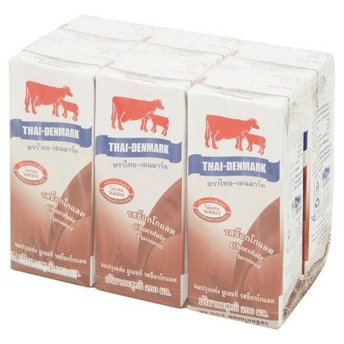 Thai-Danish UHT Chocolate Flavored Milk 200ml x 6pcs