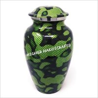 Aluminium Green Cremation Urn