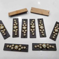 WOODEN RECTANGLE SHAPE PEARL STICKING BUTTON