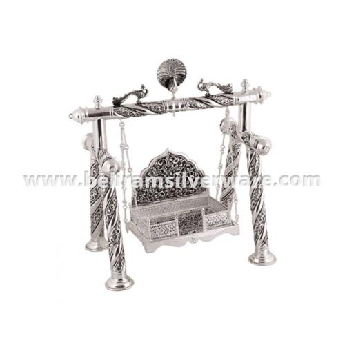 Intricate Nakshi Silver Bal Gopal Jhula