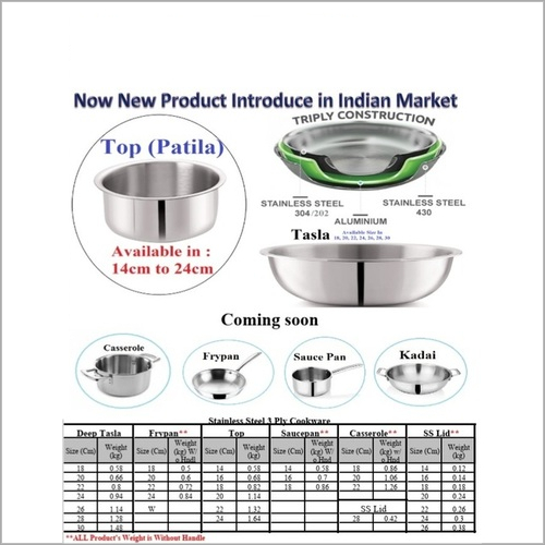 Stainless Steel Triply Cookware