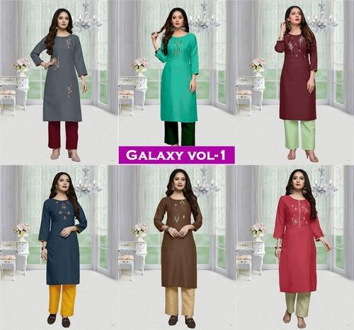 Galaxy Vol-1 Designer Galaxy Cotton Kurtis