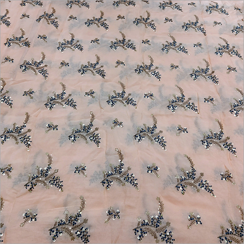 Pure Chinon Embroided Fabric