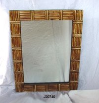 Mirror Frame With Bone Inlay