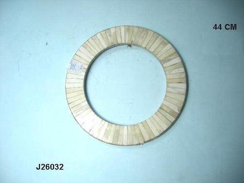 Mirror Frame With Bone Inlay