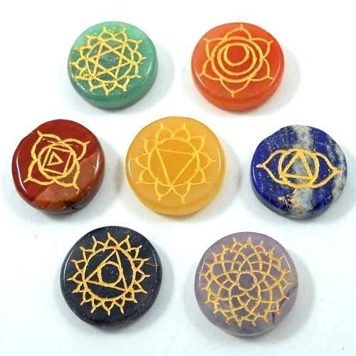 Seven Chakra Round Shape Reiki Sets