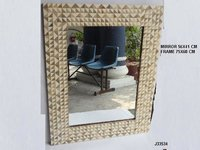 Mirror Frame With Bone And Wooden  Inlay