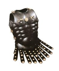 Black Antique Roman Muscle Armor Cuirass  Dragon Heavy
