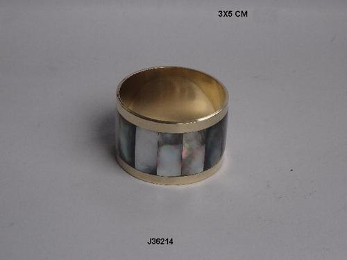 Napkin Rings With Mother Of Pearl Inlay
