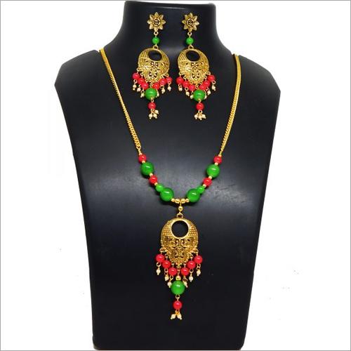 Glass Beads Modern Necklace