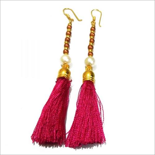 Pink Tassels Earrings