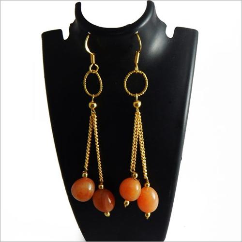 Gemstone Tumble Carnelian Earrings