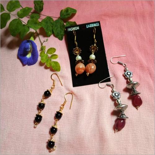 Semi Precious Gemstone Designer Earrings Combo Set